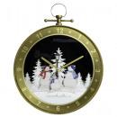 Snowing clock 65cm