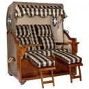 grossiste Meubles de jardin: Chaise de plage en acajou de luxe 2.5 places