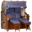 wholesale Garden Furniture: Luxury mahogany beach chair 2.5 seater