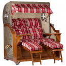 Großhandel Gartenmöbel: Luxus Mahagoni Strandkorb 2,5 Sitzer