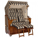 grossiste Meubles de jardin: Chaise de plage en acajou de luxe 2 places