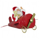 Animowany Mikołaj 60 cm w samolocie