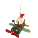 wholesale Home & Living: Tree decoration airplane 8cm Christmas decoration