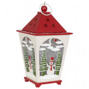wholesale Wind Lights & Lanterns: Lantern wood 23cm with LED Christmas decoration