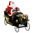 Großhandel Dekoration: XXL Animierter Santa im Auto 150cm Weihnachtsmann
