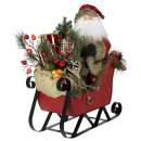 Santa on sleigh 50cm Santa Claus decoration