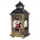 wholesale Wind Lights & Lanterns: Wooden lantern 38cm with LED deco lantern Christma