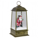 Snowing LED lantern motif Santa