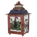 Großhandel Windlichter & Laternen: Metalllaterne 28cm Weihnachtsdeko