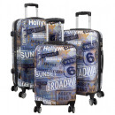 wholesale Suitcases & Trolleys: Polycarbonate Suitcase Set 3pcs Trolley Broadway