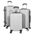 ABS Koffer-Set 3tlg Glasgow silber Trolley