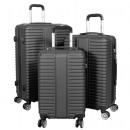 ABS Koffer-Set 3tlg Glasgow schwarz Trolley