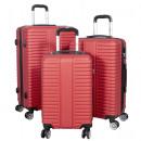 ABS Koffer-Set 3tlg Glasgow rot Trolley