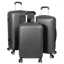 wholesale Suitcases & Trolleys: ABS suitcase set 3 pieces Trieste anthracite troll