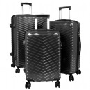 Großhandel Koffer & Trolleys: Reise Koffer Set 3tlg Meran Trolley schwarz
