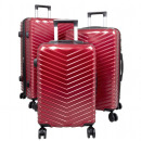 wholesale Suitcases & Trolleys: Travel suitcase set 3 pieces Merano trolley red