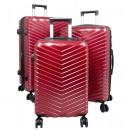 Großhandel Koffer & Trolleys: Reise Koffer Set 3tlg Meran Trolley rot