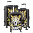 wholesale Suitcases & Trolleys: Polycarbonate luggage set 3pcs Leopard