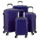 mayorista Maletas y trolleys: Estuche de policarbonato set 4tlg azul bari