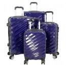 Polycarbonate luggage set 4 pcs. Messina blue