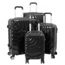 Großhandel Taschen & Reiseartikel: Polycarbonat Koffer Set 4tlg Pisa anthrazit