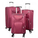 wholesale Suitcases & Trolleys: Nylon luggage set 3pcs Maribor red travel case