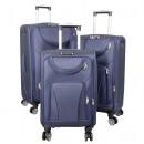 Nylon-Kofferset 3tlg Maribor blau Reisekoffer