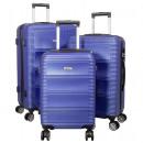 ABS-Kofferset 3tlg Bergamo blau Trolley