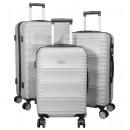 ABS-Kofferset 3tlg Bergamo silber Trolley