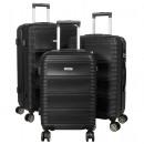 ABS-Kofferset 3tlg Bergamo schwarz Trolley