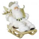 Decorative Santa Claus figure Paul 30cm on sledge