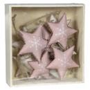 Tree decorations 10 pieces stars 4cm Christmas tre