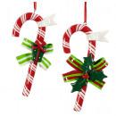 grossiste Décoration: Décorations pour sapin de Noël Candy Cane 12cm
