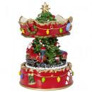 Music box rotating 17cm Christmas decoration