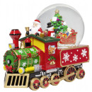wholesale Snow Globes: Snow globe with music box train 22cm Christmas dec