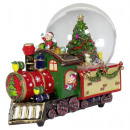 wholesale Snow Globes: Snow globe with music box train 18cm Christmas dec