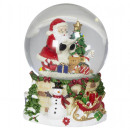 wholesale Snow Globes: Snow globe with music box 14cm Christmas decoratio