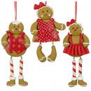 nagyker Otthon és dekoráció: Karácsonyfa díszek deco mézeskalács figura 15cm
