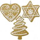 nagyker Otthon és dekoráció: Karácsonyfadíszek dekoráció mézeskalács 11cm