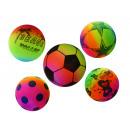 Großhandel Bälle & Schläger: Regenbogen Spielball Fußball aufblasbar ca. 22cm