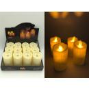 Großhandel Dekoration: LED Kerzen mit beweglicher Flamme in 12er Display