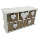 Wooden mini dresser 24x9x13cm