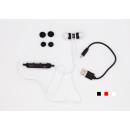 Sporthoofdtelefoons met Bluetooth (wit / zwart / R
