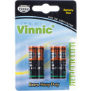 wholesale Batteries & Accumulators: Vinnic batteries  4er Blister 1,5V  AAA  SUM 4 R03