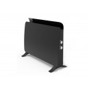 Radiator tempered glass panel black color with te