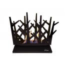Tabletop bio-fireplace in black enameled steel