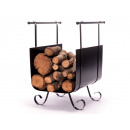 wholesale Barbecue & Accessories: Black steel firewood basket EFP17