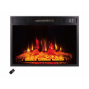 Plug-in electric fireplace with remote control