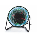 Desktop fan with clock and temperature LE