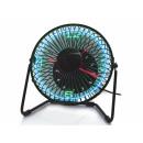 hurtownia Urzadzenia klimatyzacyjne & wentylatory: Wentylator biurkowy z zegarem i temperaturą LE